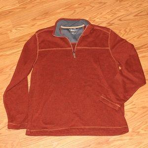 Men's burnt orange sweater